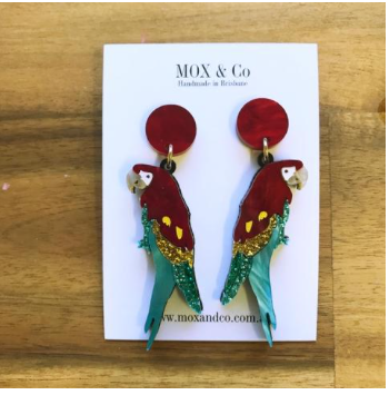 Macaw  Dangles  by Mox + co