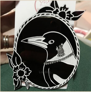 Maggie Magpie  Brooch By Katfish