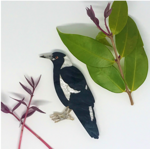 Magpie Brooch  by Mox + co  limited edition plus rocklily gift earrings