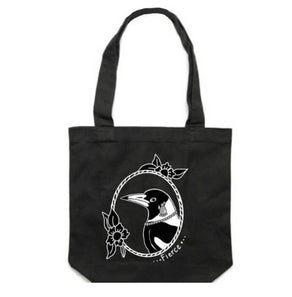 Magpie Canvas Tote  bag By Katfish