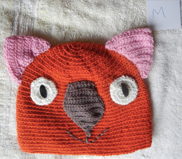Drop bear, Wombat, Koala Hat 100% wool Medium Adult: Red Pink