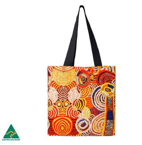Nora Davidson Aboriginal design Tote Bag, made in Australia