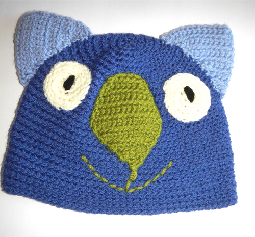 Drop bear, Wombat, Koala Hat 100% wool X Small Adult: Navy. blue