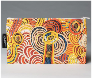 Nora Davidson Aboriginal design cotton Zip bag, made in Australia