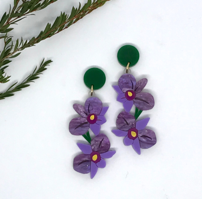 Orchid  Dangles  by Mox + co