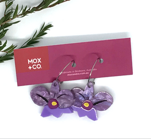 Orchid Blossom Hoops by Mox + co  limited edition