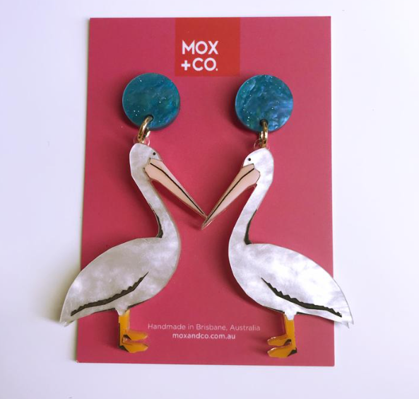 Pelicans Dangles by Mox + co
