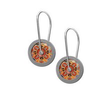 Load image into Gallery viewer, People telling stories earrings loop round allgeria rocklilywombats