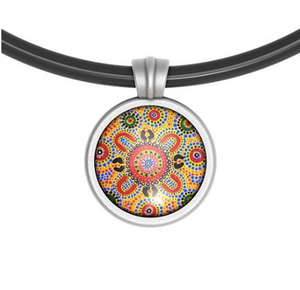 People telling stories Pendant Round - Allegria Designs