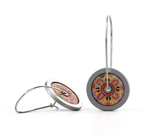 People telling stories Earrings Loop Round Aboriginal Allegria