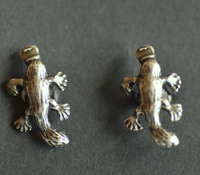Platypus Pewter Cufflinks  Antique Silver Plated: Peek-a-Boo
