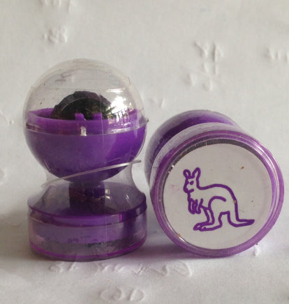 Kangaroo double-sided self-inking stamp Purple ink