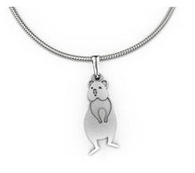 Load image into Gallery viewer, Quokka pendant necklace allegria rocklilywombats