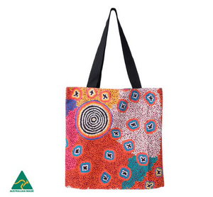 Ruth Stewart Aboriginal design Tote Bag, made in Australia
