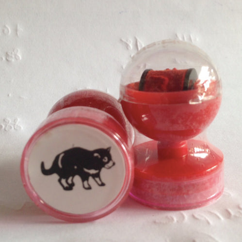 Tasmanian Devil double-sided self-inking stamp RED ink