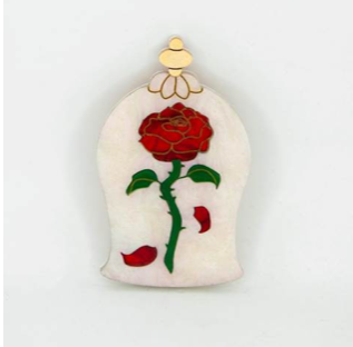 Enchanted Rose Brooch by Daisy Jean + Rocklily gift earrings