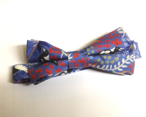 Bow Tie Merry Magpie Royal  Unique Limited Edition By Rocklilywombats
