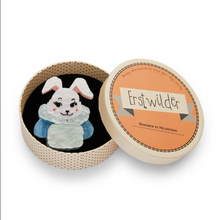 Load image into Gallery viewer, Snuggly Buffy Bunny  Brooch Erstwilder