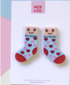Sole mate  Valentines studs by Mox + co. Due 18th Jan
