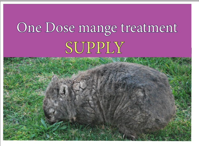 Treat a mangy wombat kit  ONE DOSE TREATMENT  SUPPLY