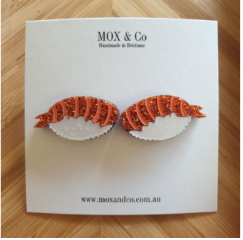 Sushi statement studs by Mox + co