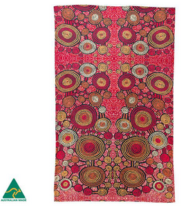 Teddy Gibson Aboriginal design tea towel, made in Australia