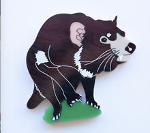 Load image into Gallery viewer, Tracy Tassie Devil Brooch by Daisy Jean + Rocklily gift earrings