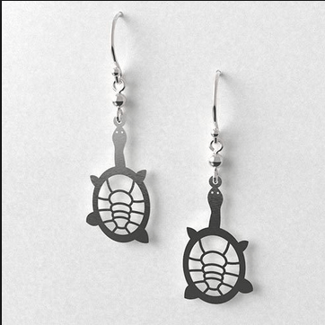 Turtle earrings allgeria rocklilywombats