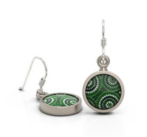 Waterholes Earrings Round Allegria Designs