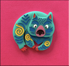 Load image into Gallery viewer, Wanda the Wombat  Fund Raising  Brooch by Daisy Jean  IN STOCK NOW