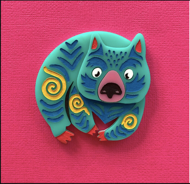 Wanda the Wombat  Fund Raising  Brooch by Daisy Jean  IN STOCK NOW