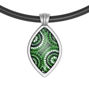Waterholes Pendant Drop  Aboriginal Design