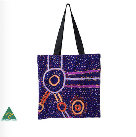Watson Robertson Aboriginal design Tote Bag, made in Australia