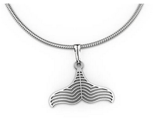 Load image into Gallery viewer, Whale tail Pendant necklace allegria rocklilywombats