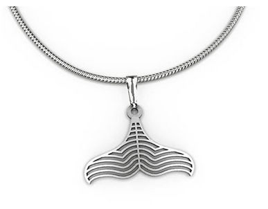 Whale tail Pendant necklace allegria rocklilywombats