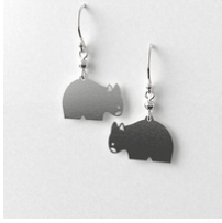 Wombat earrings allegria Rocklilywombats