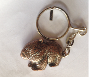 Wombat  Keyring: Pewter Antique Antique Copper Plated Key Ring