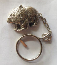 Load image into Gallery viewer, Wombat  Pewter Antique Silver Plated Key Ring