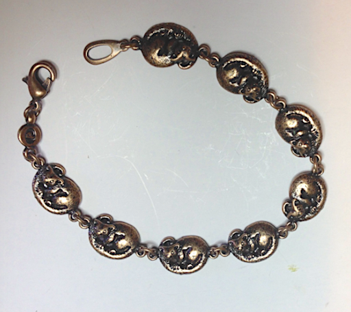 Possum Pewter  Antique copper Plated Bracelet: Peek-a-Boo