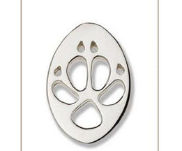 Dingo Silver Footprint Lapel-Pin  Bushprints