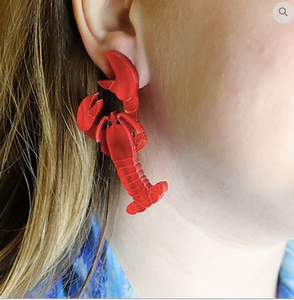 Lobster Earrings by Gorydorky  Pre order Avail mid-late July