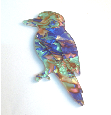 Heavenly Kevin kookaburra Brooch By Dianna