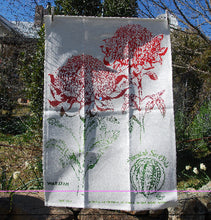 Load image into Gallery viewer, Waratah Linen Tea Towel