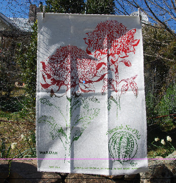 Waratah Linen Tea Towel