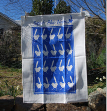 Load image into Gallery viewer, Blue Wren Linen Tea Towel