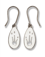 Load image into Gallery viewer, Bilby Silver Footprint Earrings – Bushprints
