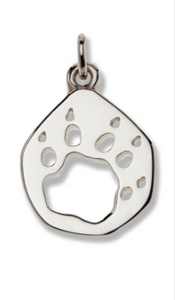 Tasmanian Devil Silver Footprint Pendant – Bushprints