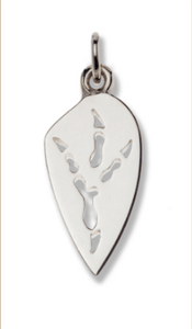 Wedge-tailed Eagle Silver Footprint Pendant – Bushprints