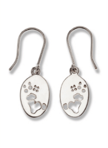 Koala Silver Footprint Earrings – Bushprints