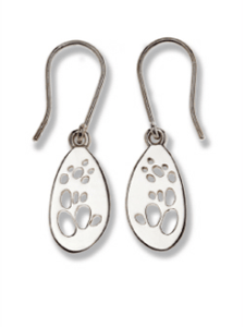 Possum Silver Footprint Earrings – Bushprints